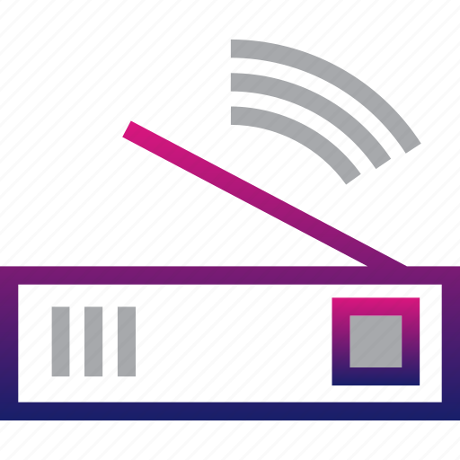 business, minimalist, modem, office, professional, router, wifi icon