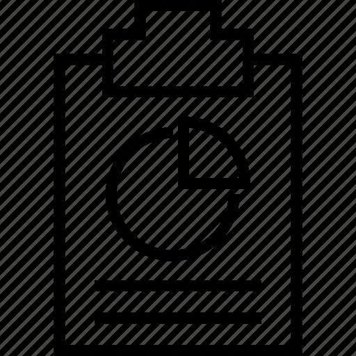 analysis, chart, diagram, notepad, piechart, statistic icon