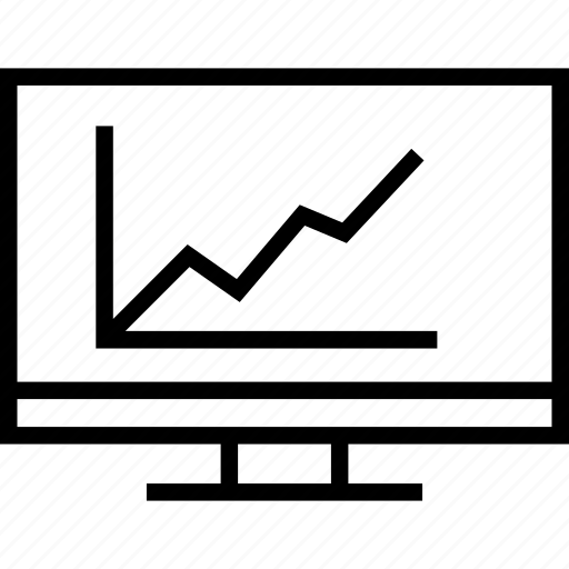 diagram, report, screen, statistics icon