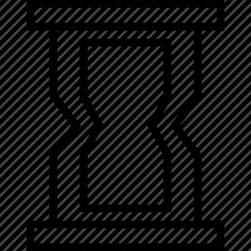 glass, hourglass, sand, sandglass icon