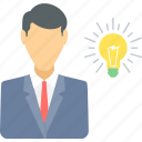 business, concept, employee, idea, ideas, innovation, thought icon