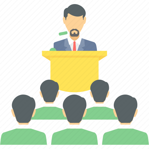 business, conference, explain, lecture, meeting, people, presentation icon