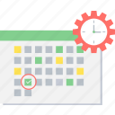 calendar, clock, date, event, schedule, time, timer icon