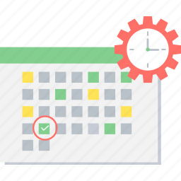 calendar, clock, date, event, schedule, time, timer icon