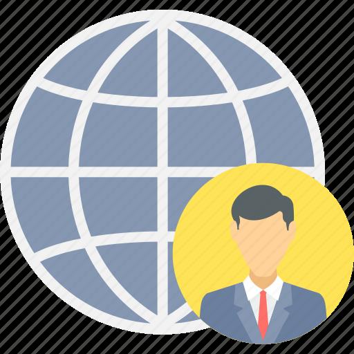 bank, business, global, international, international client, representative, world icon