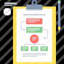work, flow, project, work flow, clipboard, plan, business icon