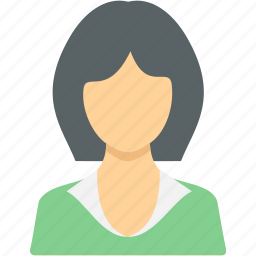 account, business, client, employee, female, person, user icon