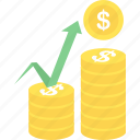 finacial, growth, market, money, payment, revenue, sales icon