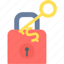 key, lock, password, privacy, secure, security, success icon