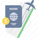 id, id card, id proof, identity, passport, travel, visa icon