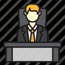 boss, business, company, desk, office icon