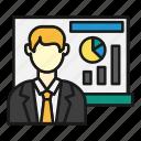 board, graph, guy, presentation, sales