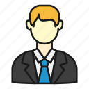 business, businessman, company, sales, tie icon