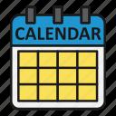 calendar, dates, management, office, planning icon