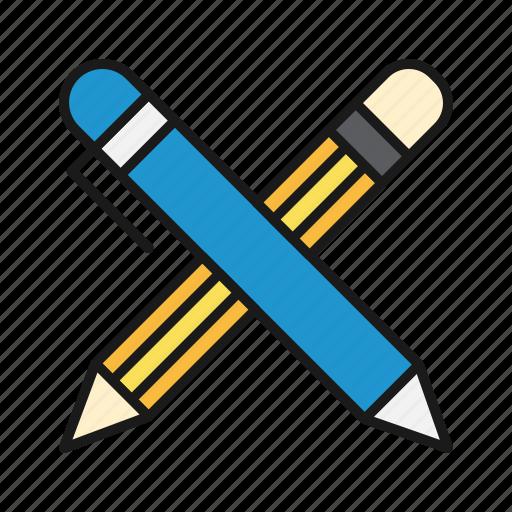 desk, office, pens icon