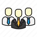 business, office, sales, team, teamwork, ties icon