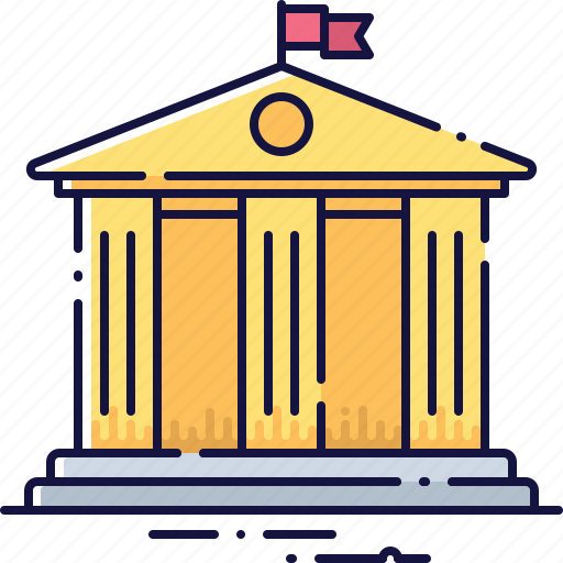 architecture, bank, banking, finance, investment, loan, money icon