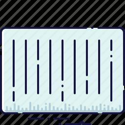 barcode, code, identification, label, sticker, striped, tag icon