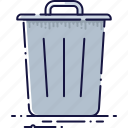 basket, clean, delete, dustbin, junk, recycle, trash icon