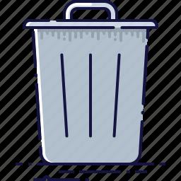 basket, clean, delete, dustbin, junk, recycle, trash icon