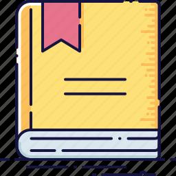 book, bookmark, education, literature, marker, publication icon