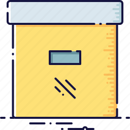 archive, box, catalog, collection, document, library, report icon