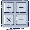 accounting, calculation, calculator, counting, device, mathematical icon