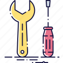 config, configuration, repair, screwdriver, settings, tool, wrench icon