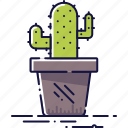 cactus, decoration, flora, floral, houseplant, plant, pot icon