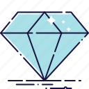 diamant, diamond, gem, jewellery, precious, stone, treasure icon