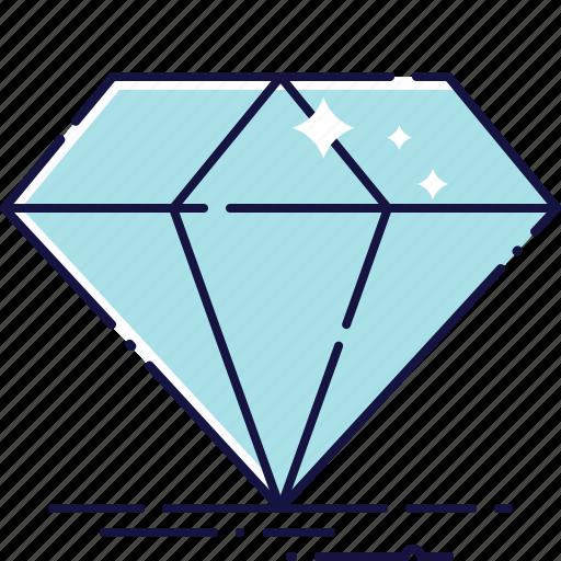 diamant, diamond, gem, jewellery, precious, stone, treasure icon