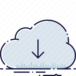app, cloud, data, document, download, file, storage icon