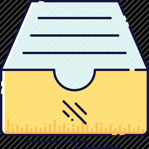 archive, box, catalog, data, document, drawer, information icon