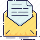 attachment, email, envelope, letter, mail, message, send icon