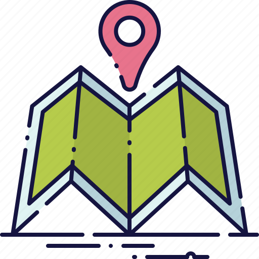 location, map, marker, navigation, pointer, travel, trip icon
