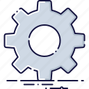 configuration, gear, install, options, repair, settings, support icon