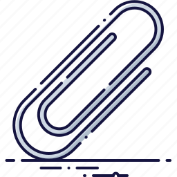 attach, business, clamp, fastener, office, paperclip, tool icon