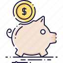coin, finance, money, moneybox, piggy, thrift-box icon