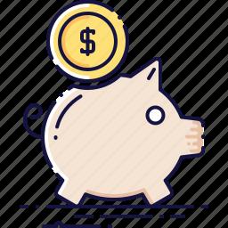coin, finance, money, moneybox, piggy, thrift-box icon