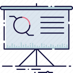 board, business, chart, display, graph, presentation, strategy icon