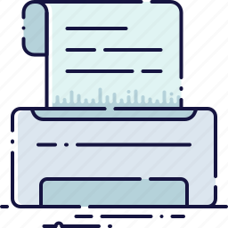 device, document, equipment, fax, office, print, printer icon