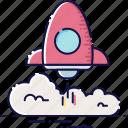 development, launch, rocket, speed, start, startup, technology