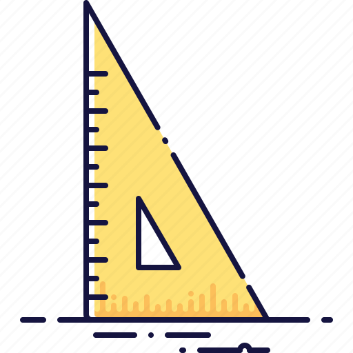 angle, dimension, math, measurement, ruler, tool icon