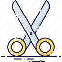 business, cut, discount, dividing, office, scissors, tool icon