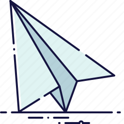 aircraft, email, letter, mail, message, newsletter, send icon