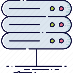 computer, datacenter, device, file, hardware, network, server icon