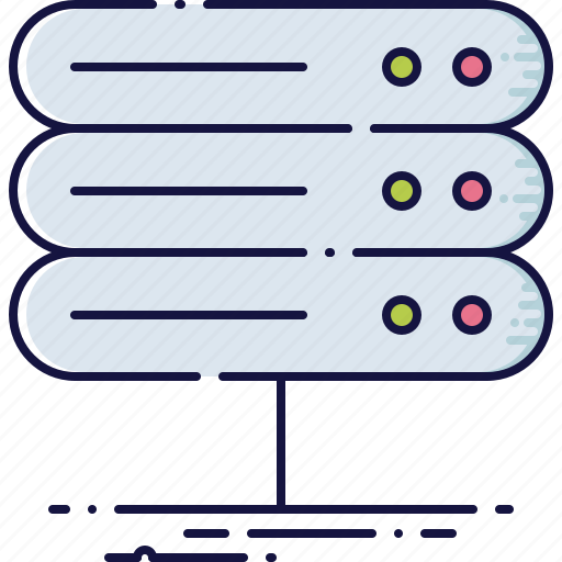 computer, datacenter, device, file, hardware, network, server icon