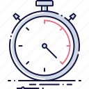 device, record, second, speed, stop, stopwatch, timer icon