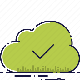 cloud, guardar, save, storage, success, successfully, upload icon