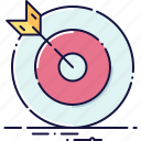arrow, business, center, dart, focus, target, winner icon